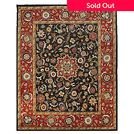 435-412 - Global Rug Gallery Khatam Medallion 8' x 10' Hand Tufted 100% Wool Rug