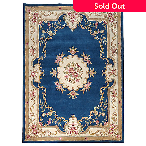 435-413 - Global Rug Gallery Leonne 2' x 4' or 7' x 9' Hand Tufted 100% Wool  Aubusson-Style Rug