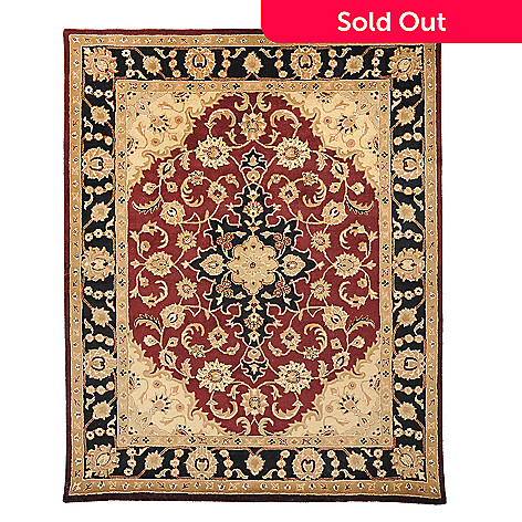 435-414 - Global Rug Gallery Star Flower 8' x 10' Hand Tufted 100% Wool Rug