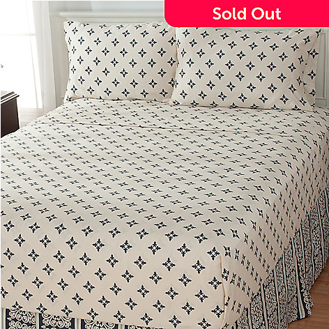 435-439 - North Shore Linens™ ''Stanton'' 300TC Cotton Four-Piece Sheet Set
