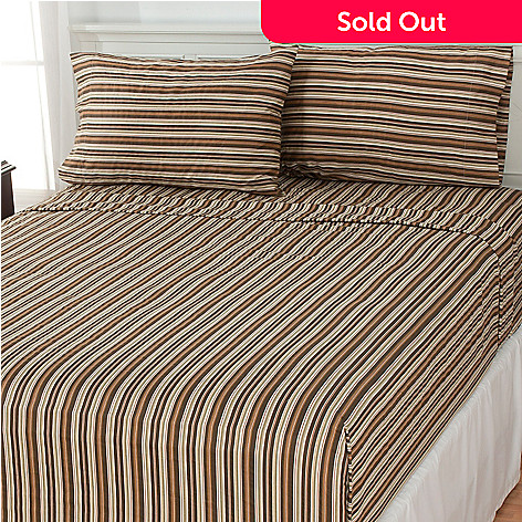 435-441 - North Shore Linens™ ''Danbury'' 300TC Cotton Four-Piece Sheet Set