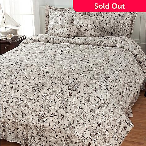 435-442 - North Shore Living™ ''Danbury'' 300TC Cotton Six-Piece Bedding Ensemble