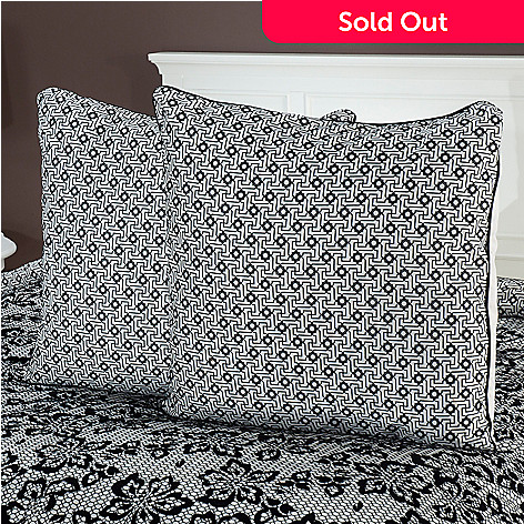 435-466 - North Shore Linens™ ''Elizabeth'' Euro Decorative Pillow Pair