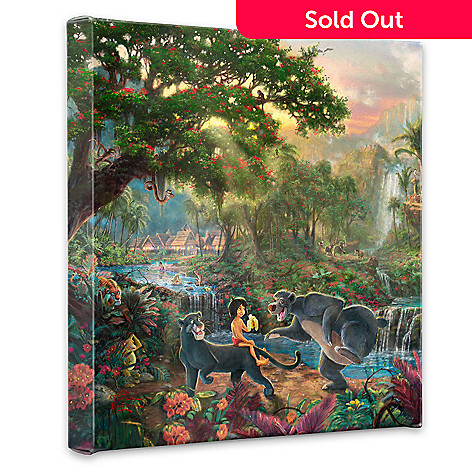 435-467 - Thomas Kinkade ''The Jungle Book'' 14'' x 14'' Gallery Wrap
