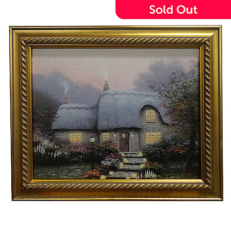 435-471 - Thomas Kinkade ''The Lit Path'' Framed Textured Print