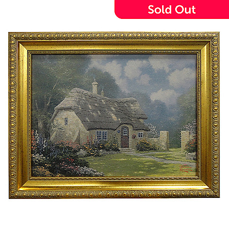 435-472 - Thomas Kinkade ''Spring at Stonegate'' Framed Textured Print