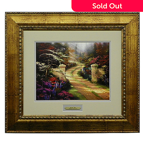 435-478 - Thomas Kinkade Prestige Home Collection ''Spring Gate'' Framed Print