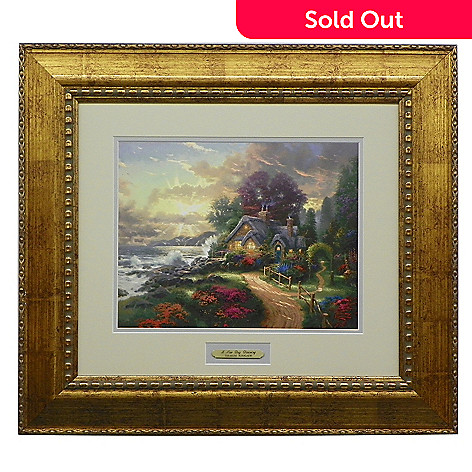 435-479 - Thomas Kinkade Prestige Home Collection ''New Day Dawning'' Framed Print