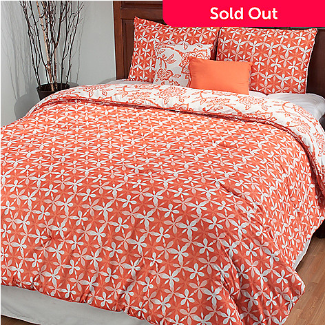 435-535 - North Shore Linens™ ''Jordin'' Five-Piece Reversible Bedding Ensemble