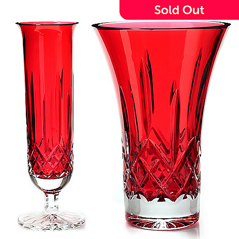 435-543 - Waterford Crystal Lismore Crimson Vase Set