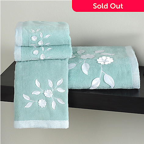 435-552 - North Shore Linens™ ''Florette'' Cotton Four-Piece Towel Set