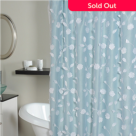 435-553 - North Shore Living™ ''Florette'' Shower Curtain