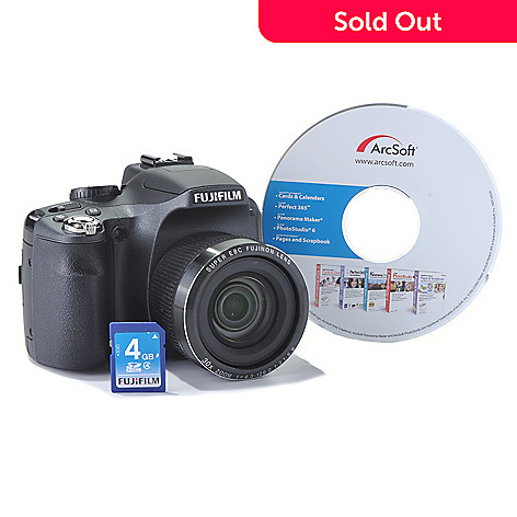 435-558 - Fujifilm Finepix 30x Optical Zoom 14MP 720p HD Camera w/ 4GB SDHC Card & Software
