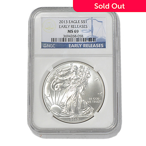 435-583 - 2013 $1 Silver American Eagle MS69 NGC Early Release Coin