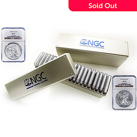 435-591 - 1986-2013 $1 Silver Eagle MS69 NGC Set of 28 Coins