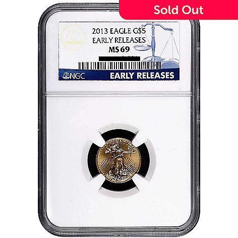 435-592 - 2013 Gold American Eagle NGC MS69 Early Release Five Dollar Coin