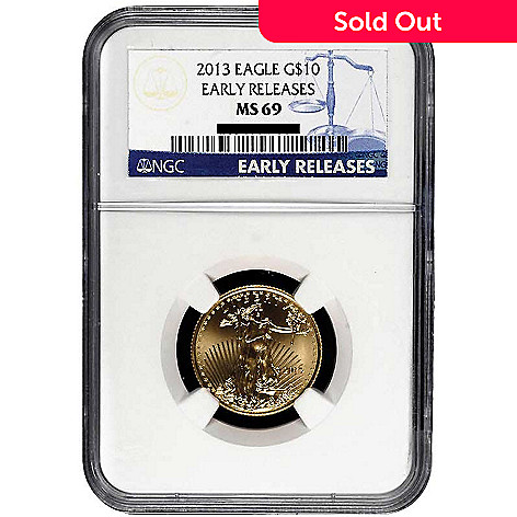 435-594 - 2013 Gold American Eagle NGS MS69 Early Release Ten Dollar Coin