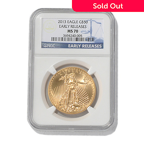 435-599 - 2013 $50 Gold Eagle MS70 NGC Early Release Coin