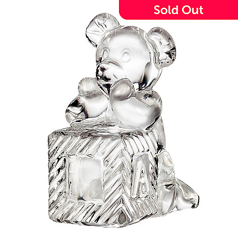 435-633 - Waterford Crystal 3.5'' Teddy Bear on Block