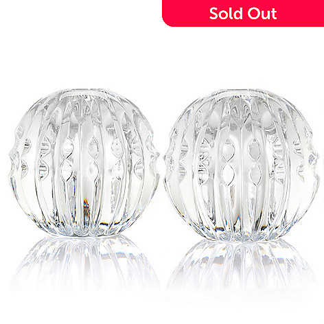 435-648 - Waterford Illuminology Candela Ball 3.25'' Candlestick Pair