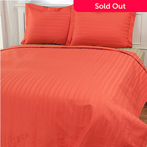 435-651 - North Shore Linens™ 750TC Cotton Damask SureSoft® Three-Piece Duvet Set