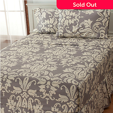 435-699 - North Shore Linens™ 300TC Egyptian Cotton Antique Medallion 4-Piece Sheet Set