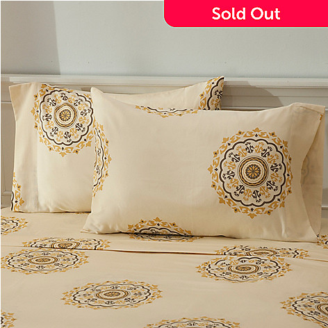 435-705 - North Shore Linens™ 300TC Egyptian Cotton Circle Medallion Pillowcase Pair