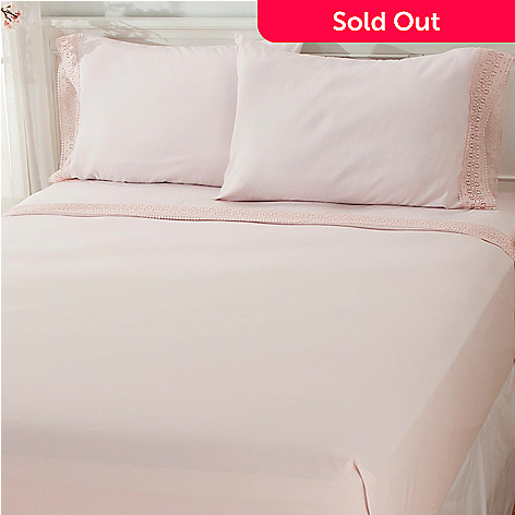 435-713 - Cozelle® Lace Microfiber Four-Piece Sheet Set