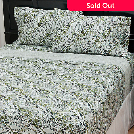 435-715 - North Shore Linens™ 300TC Egyptian Cotton Paisley Four-Piece Sheet Set