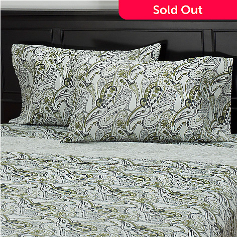 435-716 - North Shore Living™ 300TC Egyptian Cotton Paisley Sateen Pillowcase Pair
