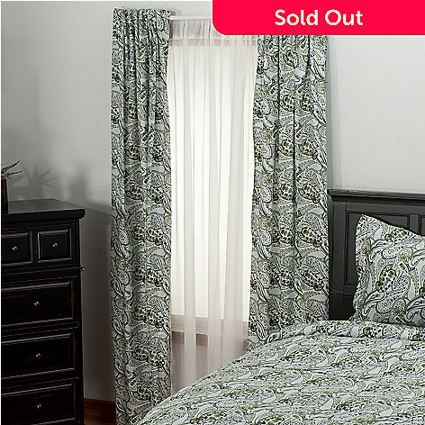 435-718 - North Shore Linens™ 300TC Egyptian Cotton Paisley Sateen Window Panel Pair