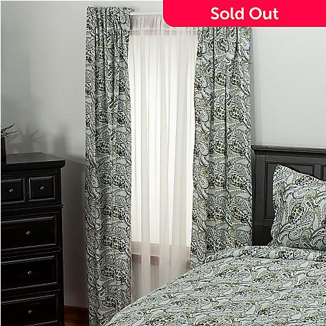 435-718 - North Shore Linens™ 300TC Egyptian Cotton Paisley Sateen Window Panel Pair