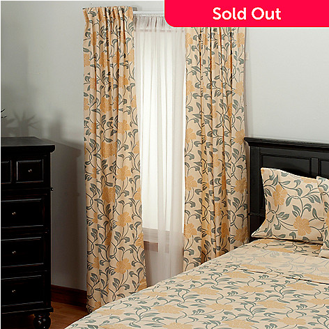 435-723 - North Shore Linens™ 300TC Egyptian Cotton Floral Sateen Window Panel Pair