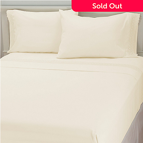 435-731 - Cozelle® Microfiber Lace Four-Piece Sheet Set