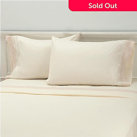 435-732 - Cozelle® Microfiber Lace Pillowcase Pair
