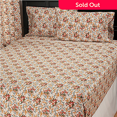 435-733 - North Shore Living™ 300TC Egyptian Cotton Parisian Floral Four-Piece Sheet Set