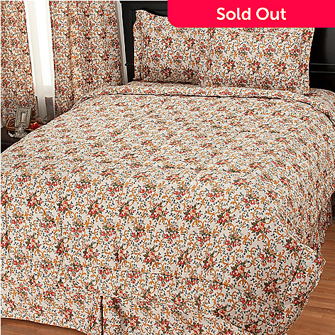 435-735 - North Shore Living™ 300TC Egyptian Cotton Floral Four-Piece Comforter Set
