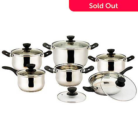 435-797 - Vinaroz Vicenza Series 12-Piece Stainless Steel Cookware Set