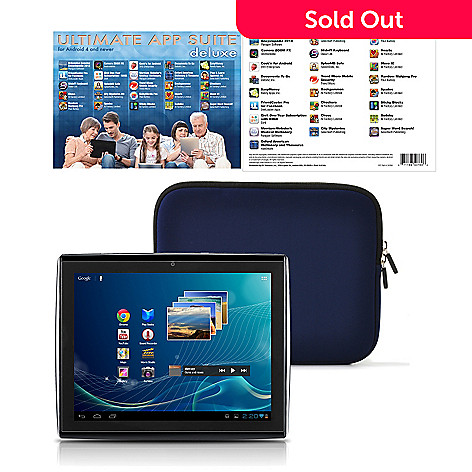 435-859 - LePan II 9.7'' GOOGLE CERTIFIED 8GB Android 4.0.4 Tablet w/ Case & App Suite