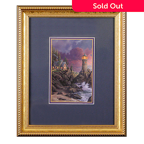 435-866 - Thomas Kinkade ''Rock of Salvation'' Framed Print
