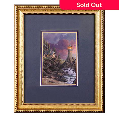 435-866 - Thomas Kinkade ''Rock of Salvation'' Framed Print