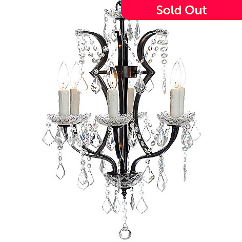 435-904 - Style at Home with Margie 26'' Cascade Crystal Glass Chandelier