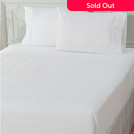 436-008 - Cozelle® ''Annie'' Microfiber Lace Four-Piece Sheet Set