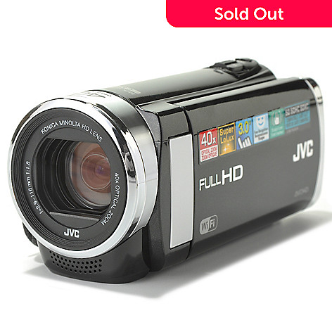 436-298 - JVC Everio 3'' Touch Screen 40x Optical Zoom 1080p HD Camcorder w/ Built-in Wi-Fi