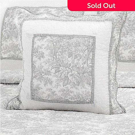 436-345 - North Shore Linens™ Cotton French Toile 20'' x 20'' Decorative Pillow