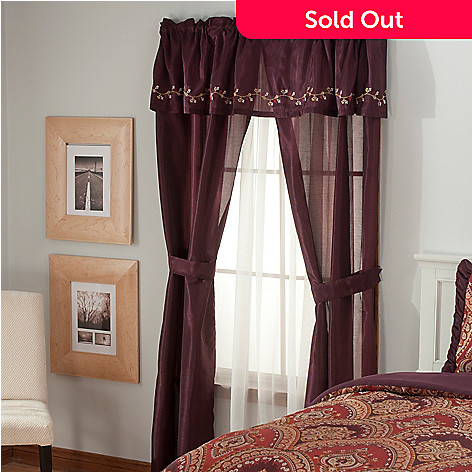 436-349 - North Shore Living™ Embroidered Five-Piece Window Set