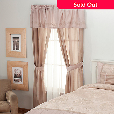 436-351 - North Shore Linens™ ''Chartres'' Five-Piece Window Set