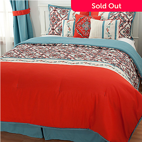 436-352 - North Shore Living™ ''Callie'' Medallion Seven-Piece Bedding Ensemble