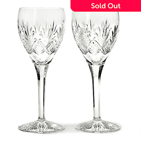 436-360 - Waterford Crystal Kelley Design Set of Two 11 oz Wine Glasses