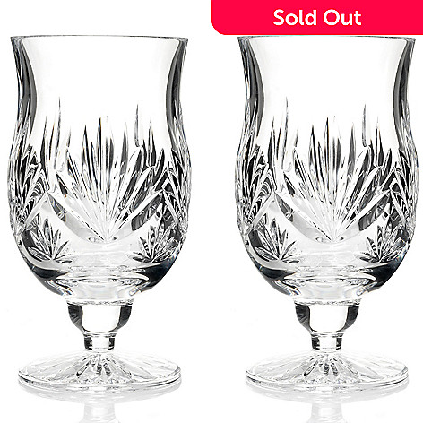 436-361 - Waterford Crystal Fanlight Set of Two 7 oz Footed Juice Glasses